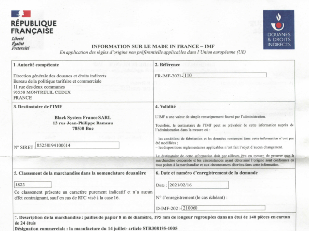 Certification Made in France